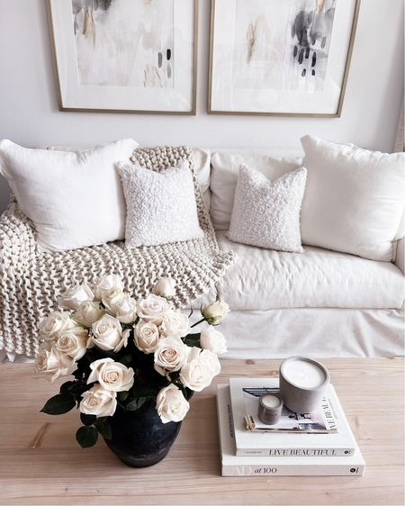 Living room decor, neutral home decor, coffee table book, coffee table styling, StylinAylinHome   #LTKhome #LTKstyletip #LTKunder100