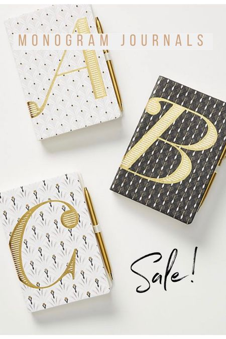 It's a perfect time to start writing a journal! These Monogram Journals are now on sar at Anthropologie😍 - journal, planner, monthly planner, sale  #liketkit http://liketk.it/2M0LX @liketoknow.it #LTKhome #LTKunder50 @liketoknow.it.home #LTKsalealert