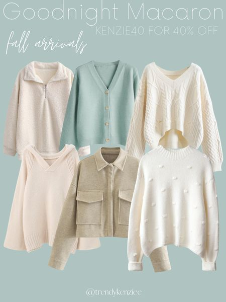 Goodnight Macaron Fall Sweaters / Fall Arrivals / Fall Style   #LTKsalealert #LTKSeasonal #LTKunder100