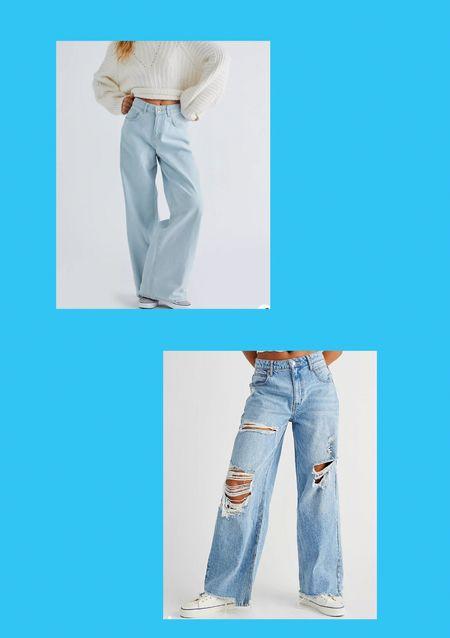Wide leg jeans 💭💙🦋🦋  #LTKworkwear #LTKSeasonal #LTKeurope