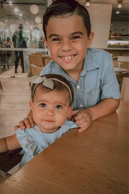 Twinning Tuesday with these cuties in their chambray outfits!   #LTKkids #LTKfamily #LTKunder50