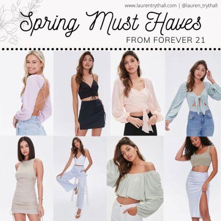 spring outfit, spring outfits, affordable spring outfits, easter dress, easter outfit, spring dress  Spring must haves from Forever 21! Get 20% off now   #LTKunder50 #LTKSpringSale #LTKstyletip