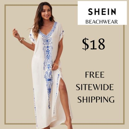 Floral embroidered swimsuit beach cover up from Shein and free sitewide shipping today   http://liketk.it/3i00P #liketkit @liketoknow.it #LTKswim #LTKunder50 #LTKstyletip You can instantly shop my looks by following me on the LIKEtoKNOW.it shopping app