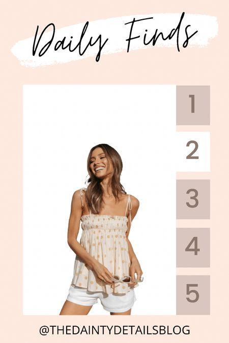 Daily finds: the perfect summer cami top!   #LTKtravel #LTKstyletip #LTKunder100