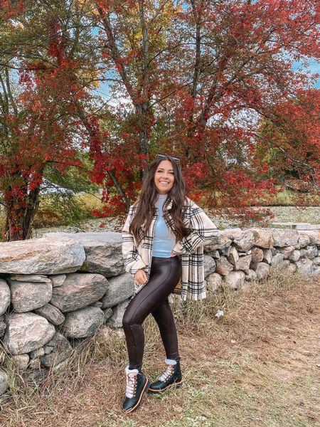 Did someone say apple picking?? 🍎  Idk about you, but apple picking is one of my fave fall activities — especially if a pie is involved afterwards! 🙃  Paired my new @goodnightmacaroon plaid shacket with some faux leather leggings for a comfy fall look! Stay tuned bc I have a little Goodnight Macaroon try-on haul to share with you guys on Sunday! You can use CAREY40 for 40% off the site 🙌🙌  Also, how fun are these @marcfisher boots?? I've had my eye on them for years and I'm obsessed!!   #LTKunder100 #LTKSeasonal #LTKsalealert