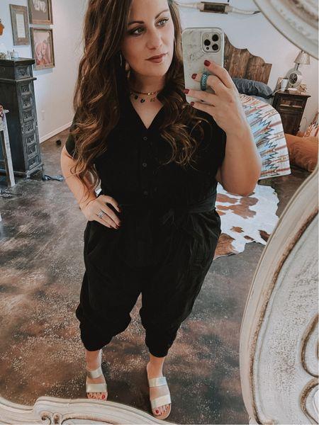 Dressing up a comfy jumpsuit. I've linked similar shoes to what I'm wearing (same brand) as well as jumpsuit.   #LTKstyletip #LTKworkwear #LTKshoecrush