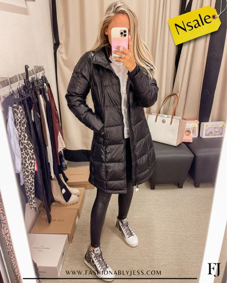 This jacket was a best seller this week! Must-have for winter. Can not get enough of my new high tops! One of my favorite purchases from the sale.  #nsale High top sneakers Winter jackets Winter style   #LTKstyletip #LTKtravel #LTKsalealert