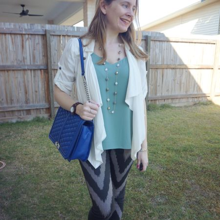 Dressing up these fun Sass and Bide chevron print jeans a little with this cute new mint cami mum picked up for me in the H&M sale a while back 💕 it's partially made with recycled fabric and a warmer day the other week was the perfect time to get it out for the first time with this light waterfall jacket as a great topper. I liked the mint cami with the cobalt blue Rebecca Minkoff jumbo Love bag too 💙 Felt a bit more dressed up than usual, especially with that pretty necklace that I've only worn to rhe office before, but really liked this outfit even if it was a relaxed day with the school run, sports and a playdate.  ------------- -------------- ------------ ------------------ ------------- --------------  Screenshot this pic to shop the product details from the @liketoknow.it app, or click here: http://liketk.it/3mY1f #liketkit #LTKaustralia #LTKitbag #myRM #RebeccaMinkoff #RebeccaMinkoffLove #everythingLooksBetterWithABag #everydaystyle #realeverydaystyle #wearedonthestreet #realmumstyle #nevervainalwayscolour #mumlife #springstyle