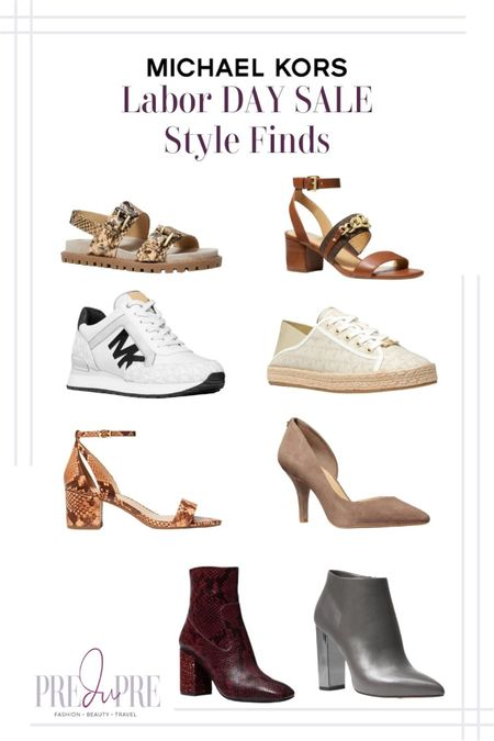 Enjoy your Labor Day weekend with some great sale finds. Read more about it at my blog, www.predupre.com  http://liketk.it/3n4wM  sandals, sneakers, heels, pumps, ankle boots, boots, Michael Kors, fall season, fall staples, fall looks, fall shoes   #LTKSeasonal #LTKsalealert #LTKstyletip