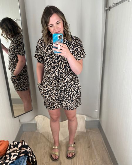 Got to check out the new H & M in town today and tried on just a couple things. Love this romper print!   The print is also available in pants, tops and dresses.   All are linked here: http://liketk.it/3hQ1z    #liketkit @liketoknow.it