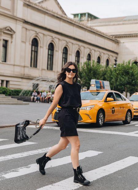 #competition Loft Chanel Combat boots Transitional outfit Celine New York inspo   #LTKunder100 #LTKbacktoschool #LTKSeasonal