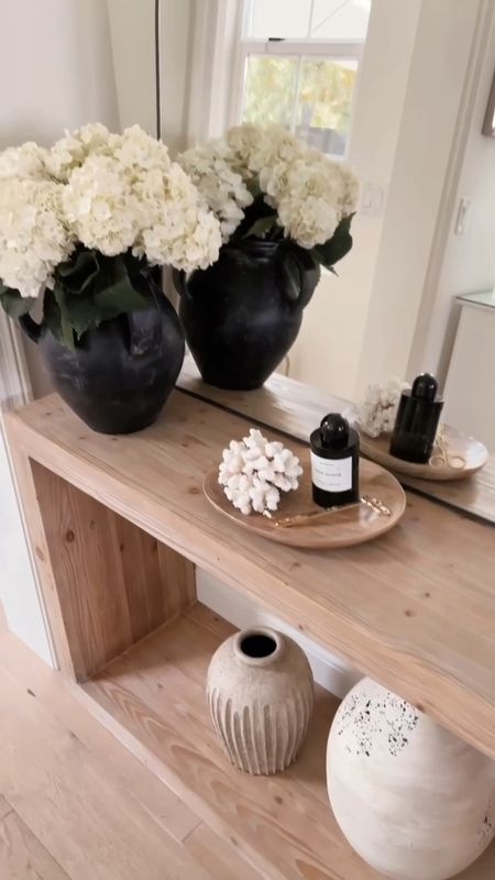 Home decor, console table style, black mirror, candle sticks, candles, vases, #StylinAylinHome   #LTKhome #LTKstyletip #LTKunder100