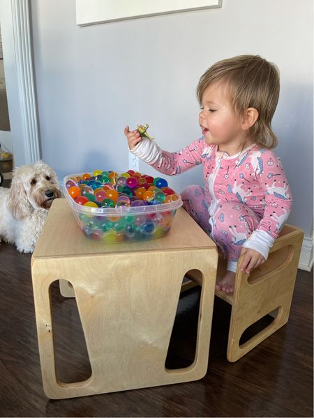 Montessori Chair & Sensory Bin