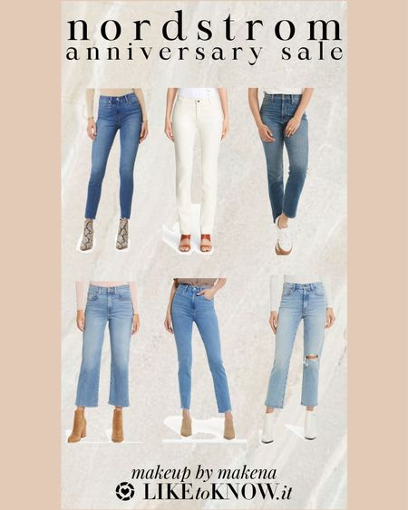 Save on denim, including jeans from Levi's, Madewell, 7 For All Mankind, Paige, and AG, during the Nordstrom Anniversary Sale now through August 8 http://liketk.it/3jDn9 #liketkit @liketoknow.it . #nsale   #LTKfit #LTKsalealert #LTKunder100