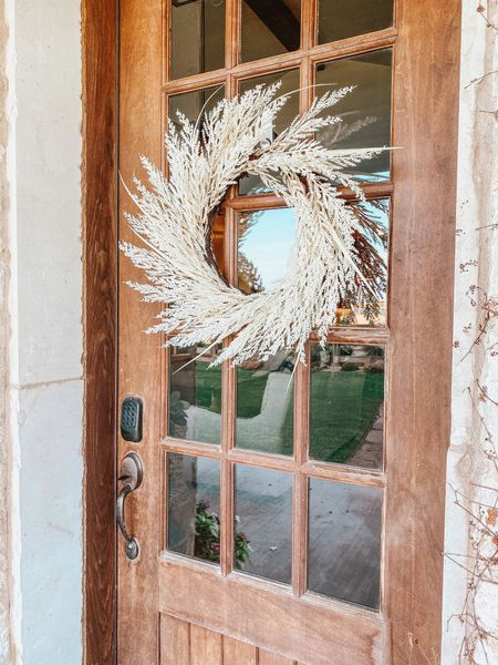 Hearth and Hand fall wreath from Target under $35  #LTKunder50 #LTKSeasonal #LTKhome
