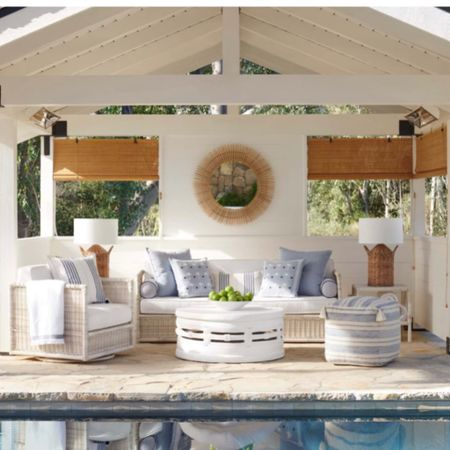 In love with this coffee table😍 - patio furniture set, outdoor furniture, summer home decor, Serena & lily, backyard furniture   http://liketk.it/3isCp #liketkit @liketoknow.it   #LTKhome #LTKfamily @liketoknow.it.home