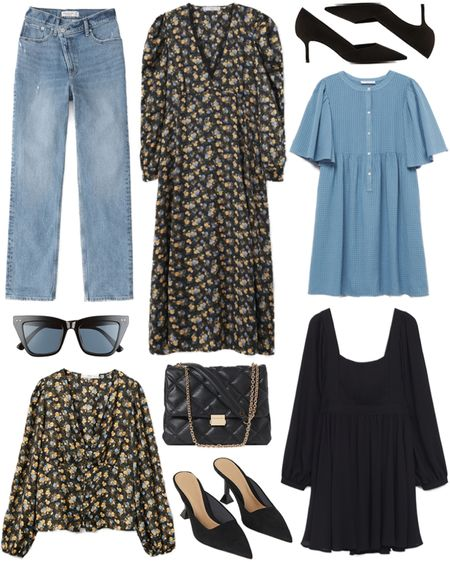 Under $100 roundup! Lots of lightweight pieces for those with a warmer fall season 🖤    #tssedited #thestylescribe #budgetfriendly #classicstyle #florals #mango #h&m  #LTKunder50 #LTKunder100