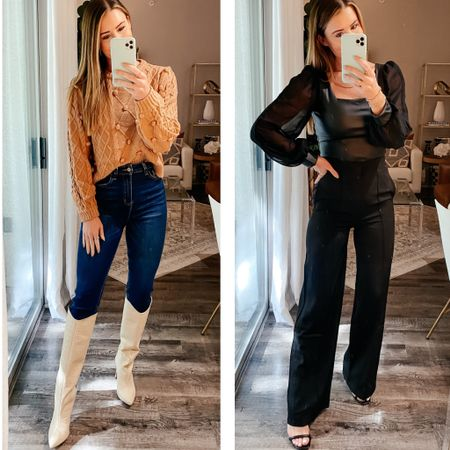 Whitney for 20% off sitewide // medium sweater, small top and pants - 26 jeans