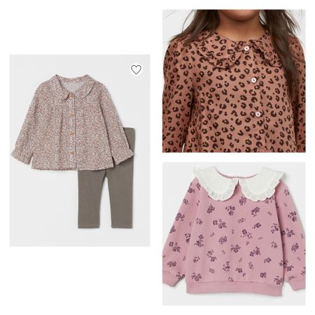 The cutest toddler girl fall clothes'! Love the oversized collar!