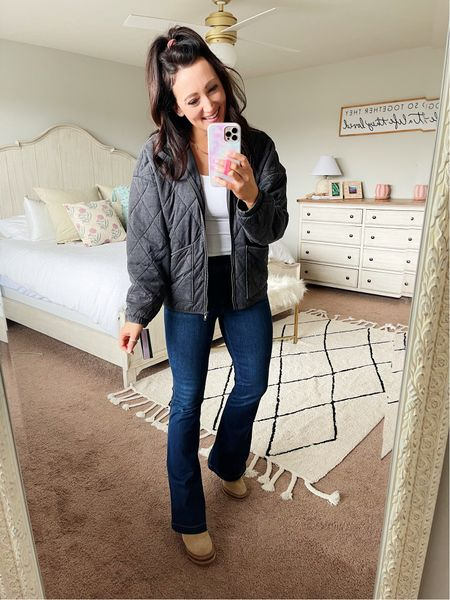 Jacket runs oversized - this is a small - under $50 quilted jacket from Target!  #LTKunder50 #LTKstyletip #LTKSeasonal