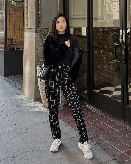 City errands look 👟   We had rain in LA over the weekend with the temperature in the 50s but I'm finally feeling the winter season here!   Staying cozy in my reversible fuzzy hoodie, turtleneck and some comfy kicks to stroll the town. Make this look yours by navigating to the link here: http://liketk.it/36UQV   Cheers! #liketkit @liketoknow.it