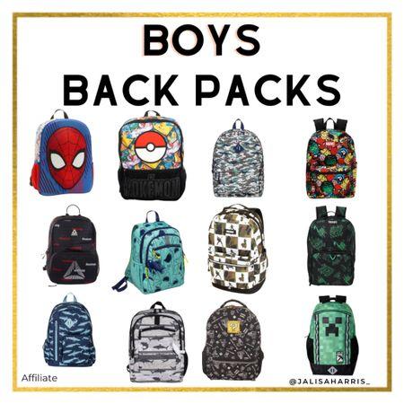 Backpacks for boys for back to school.   #LTKsalealert #LTKkids #LTKfamily