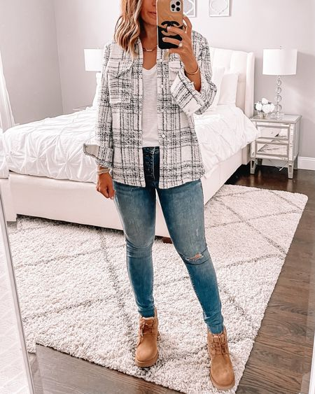 Cutest shacket from the Nordstrom sale. Wearing size small. These are the Ugg's to get from the sale my friends 🙌🏻 size up a half. I'm absolutely obsessed  #LTKunder100 #LTKsalealert #LTKstyletip