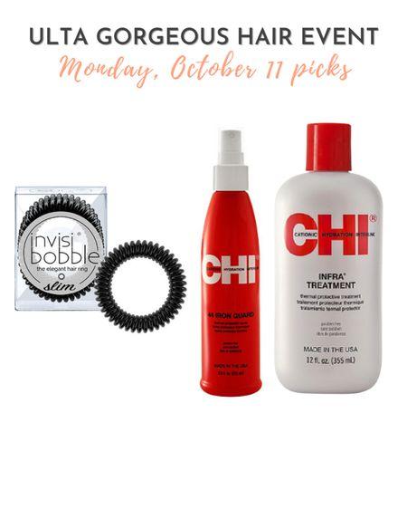 Ulta Gorgeous Hair Event 10/11 picks - Chi brand products and Invisibobble.  #LTKbeauty #LTKsalealert