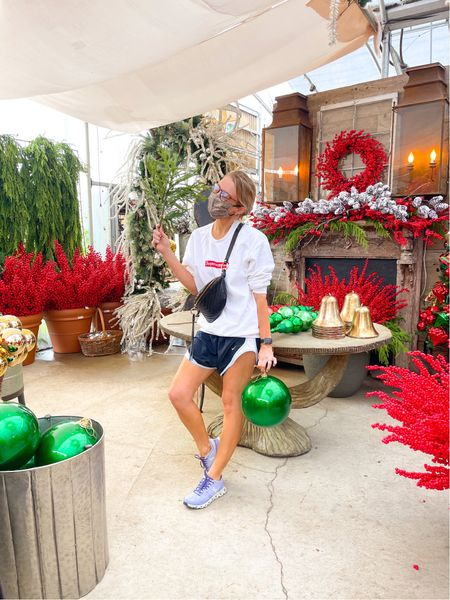 Too soon?! 🤣 🎄 I was at @millstonenursery yesterday and they have their Christmas section all set up and ready to go! Side note if you haven't gotten a pair of NORTS yet (Nike shorts), what are you waiting for?! 🤣   #LTKunder100 #LTKHoliday #LTKSeasonal