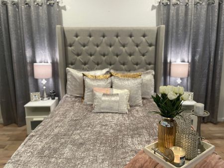 Renovated this house in a little over 30 days. The bedroom is coming together nicely! How to create a relaxing space for you and your significant other.   #LTKstyletip #LTKfamily #LTKhome