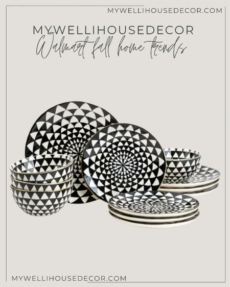 Walmart home Fall Trends: create extra visual interest in you kitchen with pattern and prints. Create the perfect fall home with these trendy designs, at amazing prices.  Loloi, boutique rugs, cane furniture, olive tree, bowls, plates, magnolia, pottery barn, pampas, table runner, Target, pumpkins, garland, couch, amazon home, lamp, target finds, wayfair finds, dining table, dining chair, serving ware, brass dining chairs, black dining chairs, amazon home finds, restoration hardware, modern farmhouse, studio mcgee, area rugs, joss and main, walmart home, meridian home, Black lamps, coffee table, accent table, ceiling lights, couch, sofa, side chair, Amber lewis, living room, dining room, family room, organic modern, chandelier.