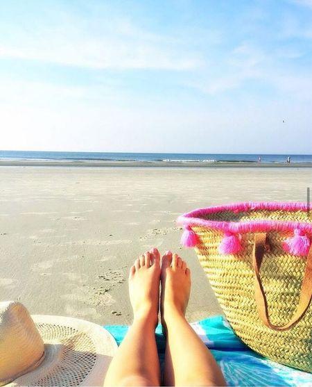 I need Vitamin Sea  Beach tote / straw tassel tote basket  #LTKSeasonal #LTKitbag #LTKtravel