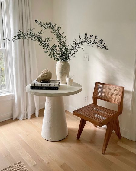 Accent chair and styled table. #homedecor #accentchair  #LTKstyletip #LTKhome #LTKSeasonal