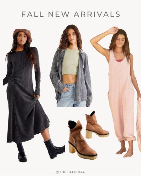 Fall new arrivals!   Free people. Maxi dress. Booties. Jacket. Jumper. Jumpsuit. Fall outfits.   #LTKSeasonal #LTKstyletip #LTKunder100
