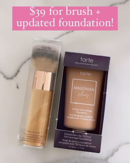 Tarte Amazonian Clay Foundation, Makeup Review, Full Coverage Foundation, Emily Ann Gemma, Makeup Tips, Makeup Routine, Best Foundation Summer 2021, QVC Beauty, QVC Exclusive  http://liketk.it/3gPMq @liketoknow.it #liketkit