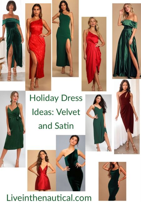 Holiday Outfit Inspiration!  'Tis the season to be glitzy and glam!  Love these dresses for the holidays! Can Santa bring me one of each?    #LTKGiftGuide #LTKHoliday #LTKSeasonal