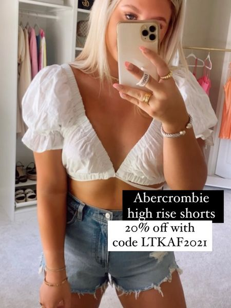 Abercrombie curve love high rise shorts @liketoknow.it http://liketk.it/3hnNZ #liketkit #LTKDay #LTKsalealert #LTKunder100