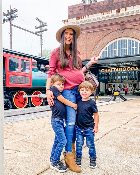 🚂 Have you been to Chattanooga before? We made it in yesterday morning and instantly started exploring!! The ChooChoo hotel is so fun and the boys loved seeing all the train cars, exploring the gardens, and feeding the fish in the koi pond!!  Check out my stories for all our fun and lmk if you have any recommendations too!! ❤️ One thing as a mom that I have been doing for a while now is dressing my boys in matching outfits - yes it's cute but if we are in public somewhere where they can run around it makes it much easier to spot them if they're twinning!! With $4 shirts and $10 jeans it makes it an easy solution for traveling and especially packing the same things twice!! http://liketk.it/2YoWf @liketoknow.it @liketoknow.it.family #liketkit #LTKfamily #LTKkids #LTKbump