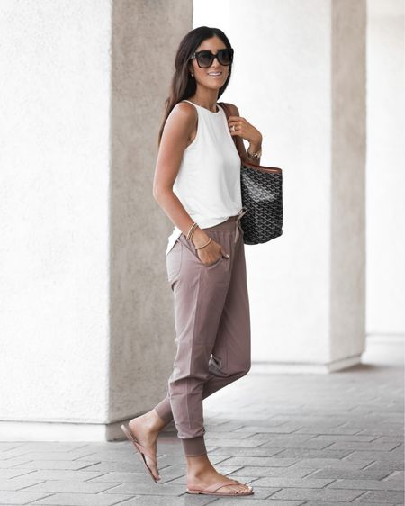 Amazon style, casual daily outfit, joggers, tank, affordable style, StylinByAylin  #LTKunder100 #LTKstyletip #LTKunder50