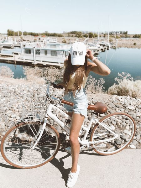 Summer outfit inspo 💛 hat and shorts are from 12th tribe - use code JUSTKELSCOSUMMERBABE for $$ off   #LTKsalealert #LTKstyletip #LTKtravel