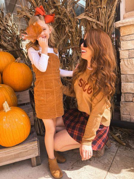 pumpkin spice outfits (my sweater and skirt are on sale)   #LTKunder50 #LTKsalealert