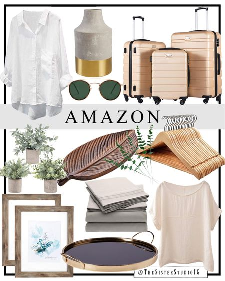 Today's Amazon finds! Home decor, luggage, sheets, and tops!      #LTKstyletip #LTKhome