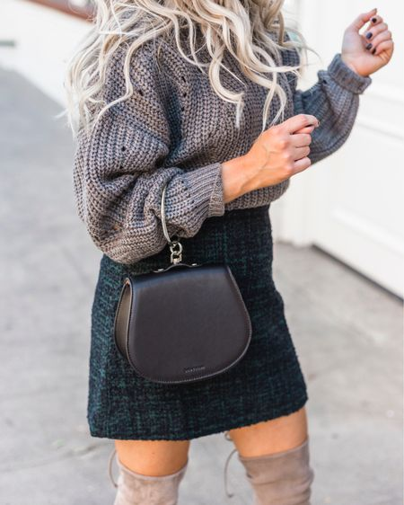 Fall is almost here! Bring on the oversized knit sweaters, tweed woven mini skirts paired with suede over the knee OTK boots and cute bags please! I'm more of a cool weather person and always love wearing comfy clothes http://liketk.it/2VCEO #liketkit @liketoknow.it #LTKunder100 #LTKitbag #LTKstyletip