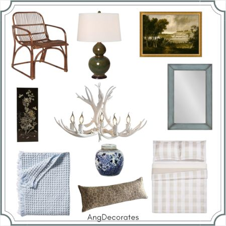 """Pretty """"look for less"""" bedroom inspired by James T. Farmer  #LTKhome"""