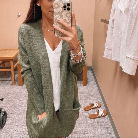 My green cardigan is on sale! Super comfy & perfect for fall 😍   #LTKsalealert #LTKSale #LTKunder50