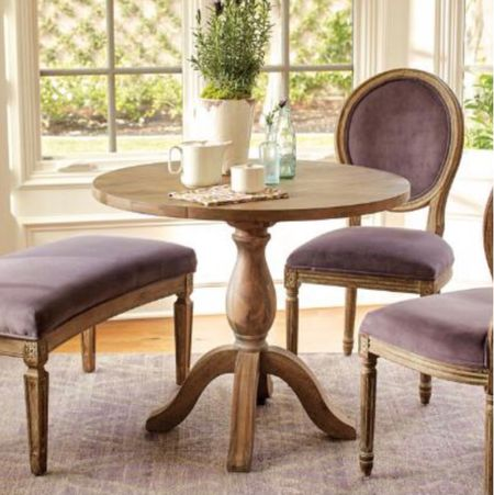 Small round accent table  Drop down sides  Natural wood table   #LTKhome #LTKstyletip