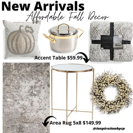 Affordable beautiful pieces to incorporate into your sweet home. ✨fall decor, area rug, neutral home, accent table  #LTKsalealert #LTKSeasonal #LTKhome
