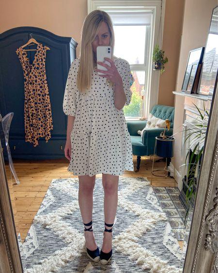 http://liketk.it/2Peib #liketkit @liketoknow.it @liketoknow.it.home @liketoknow.it.europe #LTKeurope #LTKstyletip #LTKunder100 @liketoknow.it.family polkadot smock dress, smock dress, mini smock dress, mini polkadot dress, dress outfit, casual dress, summer outfit ideas