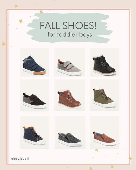 Fall shoes for toddler boys!  #LTKSeasonal #LTKkids #LTKfamily