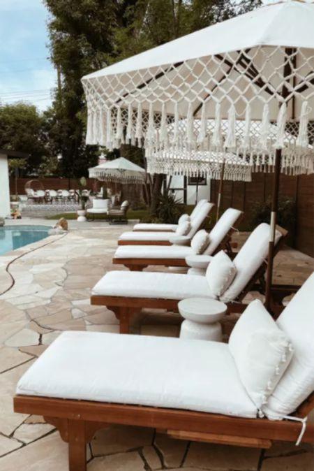 neutral outdoor lounge situation   #LTKhome #LTKswim #LTKstyletip